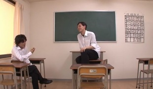 Excellent Japanese whore Yui Oba in Incredible stockings, couple JAV scene