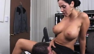Stacked boss Veronica Rayne gets pounded by Jack Vegas in the office