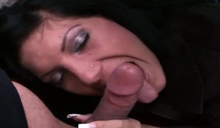 Wanda keeps her mouth wide open during the time that taking cumshot