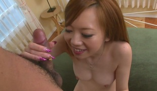 Mami Masaki gets her wet hole destroyed by guys hard wang