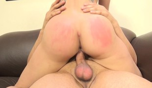 Slutty babe with fabulous large breasts Cali Marie enjoys a hard fucking