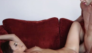 Hungarian sensation Amirah Adara is wildly fucking on the daybed