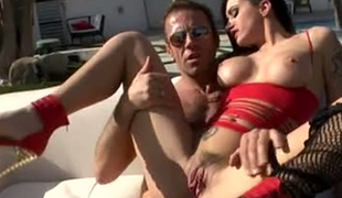 Alby Rydes cannot miss the chance to have a Three-some with Rocco Siffredi