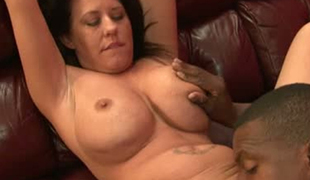 Busty European MILF Grace Evangeline sucks BBC greedily