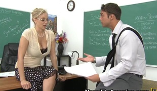 barbert blonde store pupper blowjob facial moden handjob rimjob