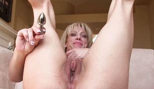 synspunkt anal babe blonde milf onani leketøy naturlig vibrator barmfager