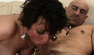 Buxom mature lady Candy discloses her oral skills and acquires nailed unfathomable