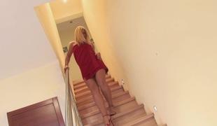 blonde onani