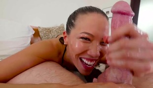 Jonni Darkko bangs breathtakingly hot Kalina Ryus face hole just like mad
