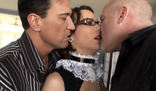 Dana DeArmond plays with mans hard ram rod