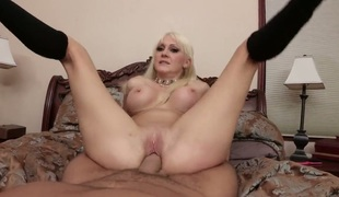 Torrey Pines with gigantic hooters can not expect to be banged in her mouth by hard dicked Keiran Lee