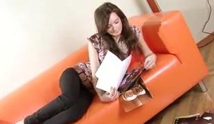 tenåring brunette solo