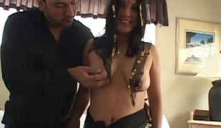 Risque Indian sweetheart getting her hairy pussy fingered then fucked doggy style