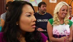 Zoey Foxx and Katt Dylan are college coeds