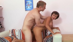 Pretty angel enjoys hardcore pussy banging in various poses