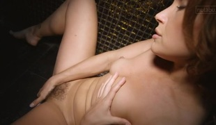 Legal Age Teenager moans with pleasure in her solo masturbation action
