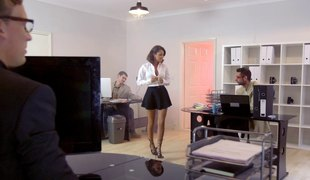 Classy in nylon stockings acquire banged doggystyle getting her moan noisily in a reality shoot