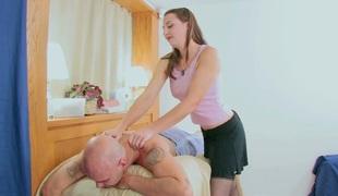 tenåring hardcore blowjob strømper sædsprut truser massasje ass små pupper handjob
