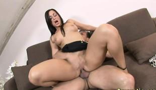 brunette anal babe hardcore blowjob fingring ass hd