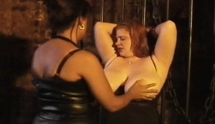 Huge breasted redhead plumper explores her lust for pain and enjoyment