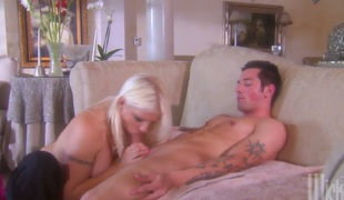 Adorably sexy kitty Veronica Vaughn does dirty things and then gets dreamed in jizz