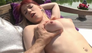 Rocco Siffredi drills naughty Minnie Mangas beautiful face with his boner