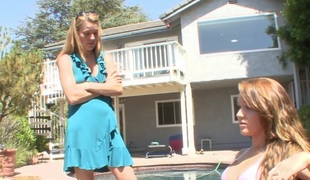 Golden-haired MILF teaches her stepdaughter a lesson