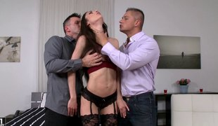 Two cocks are quite enough to make Arwen Gold happy and calm