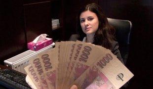 tsjekkisk penger rype amatør european synspunkt hvit brunette vakker hotellet