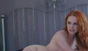 Slavemaster redhead Ella Hughes can't live without being watched during sex