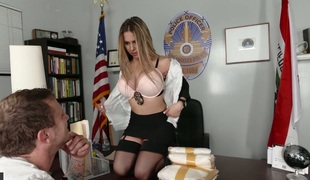 Delightful police chief with big boobs Rachel Roxxx banged well
