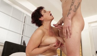 Compilation of mature bitches receiving cumshots in their large love muffins