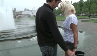 Most excellent OF EUROPE: Charming German Milf Bound and Drilled in Public