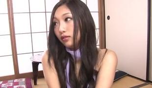 Lascivious Japanese slut Maki Takei in Superlatively good JAV uncensored Hardcore scene