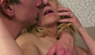 Submissive granny takes a hard penetration in the ass