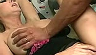 Saucy blonde bitch Michelle screwed hard in a gym