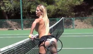 Topless Tennis Fun