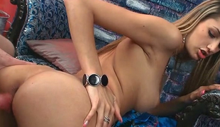 Majesitc blonde college whore can't live without pounding from behind