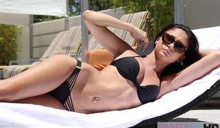 brunette babe hardcore briller erotisk bikini par hd