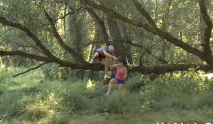 cute legal age teenager is so curvy and the guy bonks her outdoors