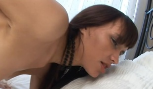 Hotty is completely delighted to let stud drills her wet vagina