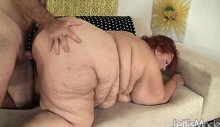 Plump redhead mature has a slutty chap giving her the fuck that babe merits