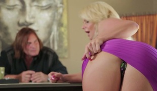 Blonde seductress with large boobs Phoenix Marie nailed well