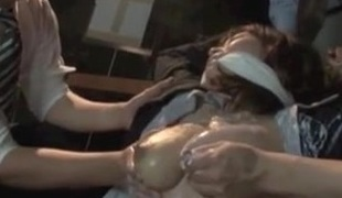 Fastened Japanese Milk Slut!!!!!!!