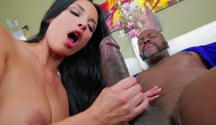 Anissa Kate takes BBC in her tight white backdoor