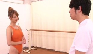 Most excellent Japanese whore Tia Bejean in Lustful JAV censored Fingering, Blowjob movie scene