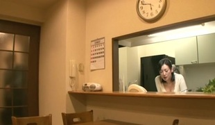 Amazing Japanese slut Ayumi Takanashi in Best milfs, kitchen JAV video