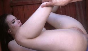 puppene brunette fitte våt dusj ass tilbedelse bimbo