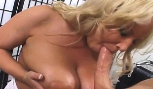 Stacked blonde mom Rachel Love cheats on her husband with her stepson