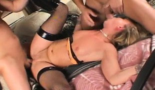anal blonde hardcore milf gangbang blowjob strømper ass handjob